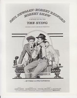 """""""The Sting"""" 1973 Starring P.Newman, R.Redford Vintage Publicity Photo"""