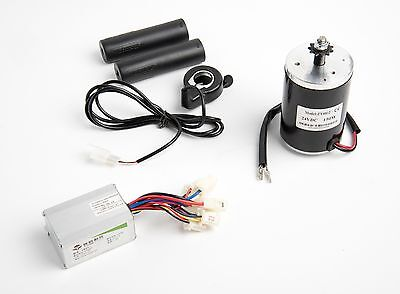 24 V 150 W MY6812 Electric Motor w Sprocket, Speed Controller & Thumb Throttle