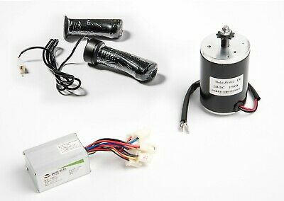 24V 150W MY6812 Electric Motor w Sprocket, Speed Controller & Twist Throttle DIY