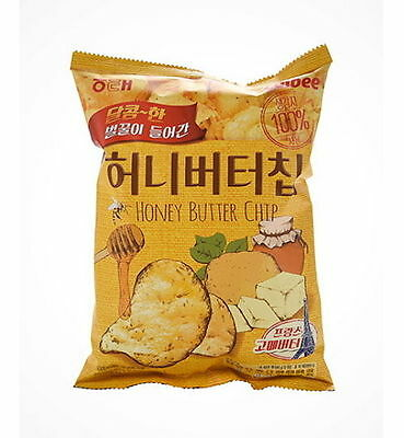 Calbee Haitai Bite Sized Honey Butter Seasoned Potato Chips 60g Korean Snack NEW