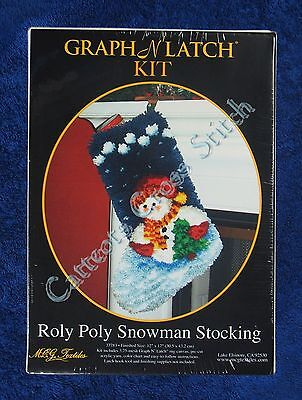 "Latch Hook Kit Christmas Snowman Stocking Graph N' Latch MCG Textiles 12"" x 17"""