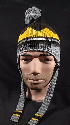 Rare ~ United Parcel Service ~ Ups ~ Freight Knit Hat Cap Gray Yellow Brown