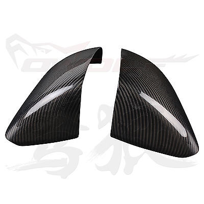 for Ford Mustang 2015-2017 100% Real Carbon Fiber Mirror Cover Case -Euro Type