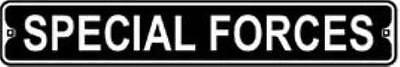 """Special Forces 3"""" x 18"""" Metal Mini Street Sign"""