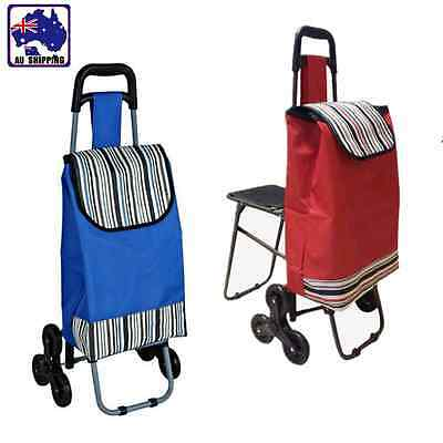 Shopping Cart Trolley Wheels Foldable with/without Seat Carry Bag Carts CTOC320