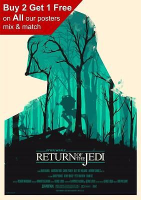 Star Wars Return Of The Jedi Art Poster Print A5 A4 A3 A2 A1 A0