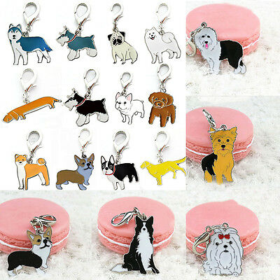 Puppy Dog Tag Pet ID Metal Enamel Accessories Collar Necklace Pendant Disc Disk
