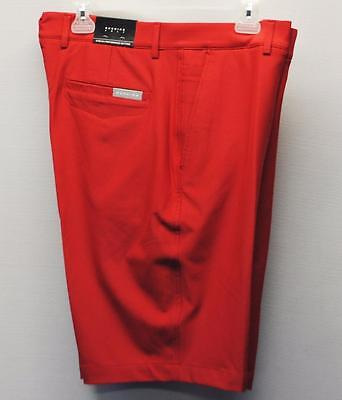 New Mens Size 34 Dunning Golf Stretch Performance poly/spandex red golf shorts