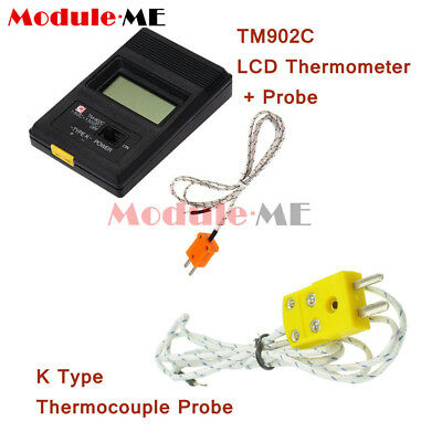 TM902C LCD KType Thermometer Temperature Reader Meter Probe Thermocouple Probe