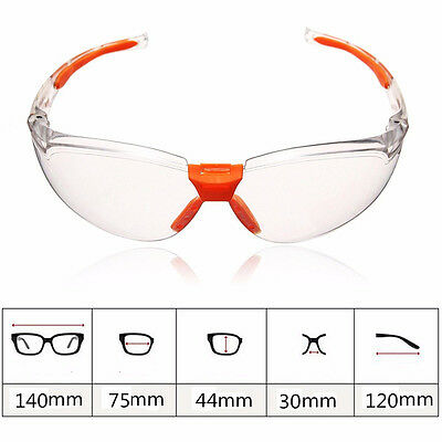 Dustproof Safety Goggles Eye Protection Anti-Fog Vented Clear Protective Glasses