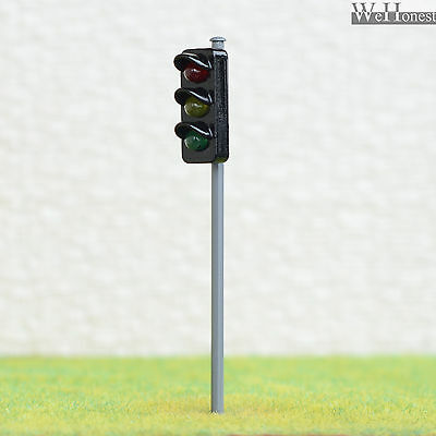 2 x traffic signal light O scale model railroad crossing walk led lamp #GR3