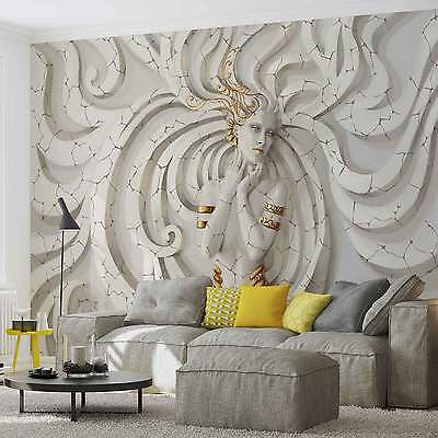 WALL MURAL Modern Woman Swirls XXL PHOTO WALLPAPER (3161DC)