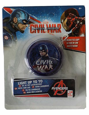 AVENGERS Light Up Yoyo Trick Child Clutch Gift Toy Speed Ball Return Top