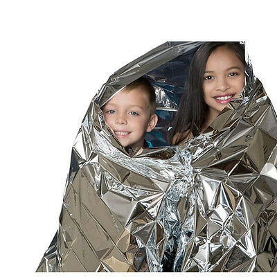 Emergency Blanket Outdoor Portable Folding Mylar Thermal Heat Camping Insulation
