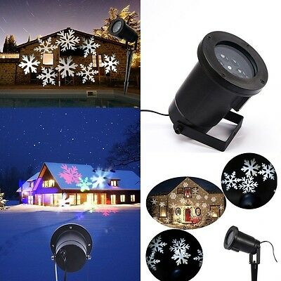 RGBW/White Outdoor Snowflake Laser LED Projector Landscape Xmas Light for Decor