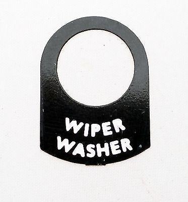 Land Rover Series 1 2  2a WIPER WASHER Switch tag