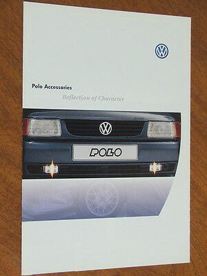 c1998 Volkswagen Polo original 6 sided foldout Accessories brochure
