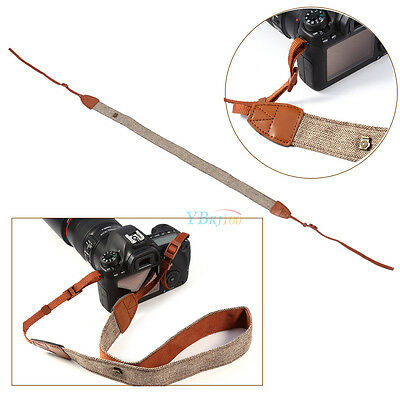 Vintage Camera Shoulder Neck Strap Belt for Sony Nikon Canon Digital DSLR Brown