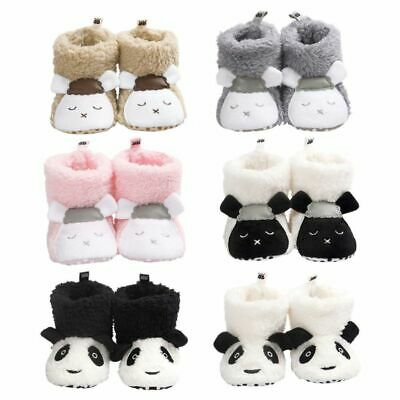 Baby Girls Boys Winter Warm Boots Newborn Toddler Infant Soft Sole Shoes 0-18M