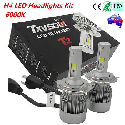 180W CREE 26000LM H4 Hi/Lo LED Car Headlight Bi-Xenon Conversion Kit Bulbs 6000K