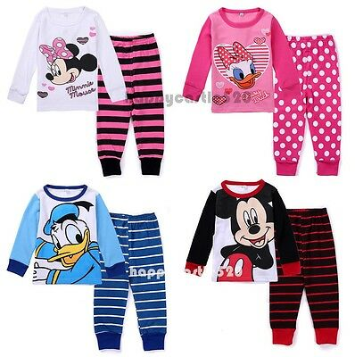 2pcs Baby Boy Girl Kids T-shirt Top+Pants Pajamas Children's Unisex Clothing Set