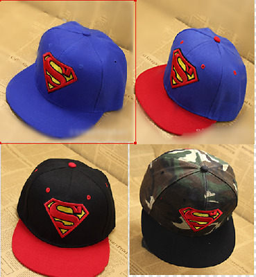 Boys Kids Baby Children Toddler Superman Batman Hiphop Baseball Hat Cap Beanie