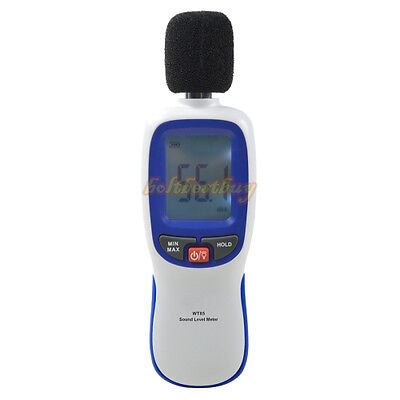 LCD Digital Sound Level Meter Noise Volume Decibel Monitor Tester Diagnostic