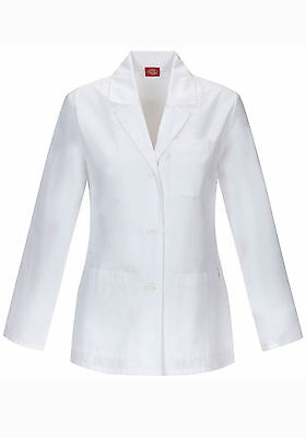 Dickies 84401AB 28 Inch Women's Lab Coat Antimicrobial With Fluid Barrier