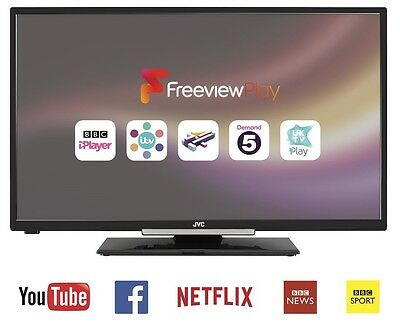 "JVC LT-32C660 32"" SMART LED LCD TV, Freeview HD, WiFi, USB Record, Pause & Play"