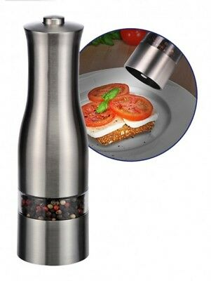 Stainless Steel Salt and Pepper Mill Salt Pepper Shakers Grinder Electric