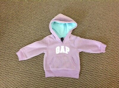 Baby Gap Girl`s Fleece Hoodie - 2 To 3 Years - Lilac - Hooded Sweatshirt
