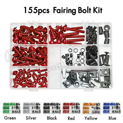 155x for Yamaha Honda Stainless Fairing Bolt & Screen Bolts Kit Fixings Washers