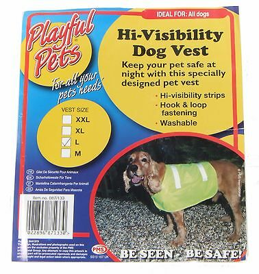 Pet Dog High Visibility Hi Viz Vis Fluorescent Reflective Safety Vest Jacket