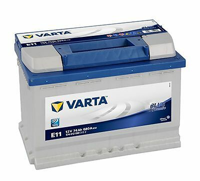 Batterie voiture Varta Blue Dynamic E11 12v 74ah 680A 278x175x190mm 574012068