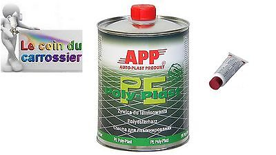 Resine polyester 1 litre + catalyseur, auto