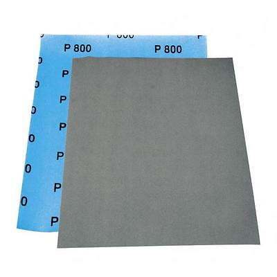 Lot de 8 Feuilles abrasives a l'eau, format 230 x 280mm, grain P600, carrosserie
