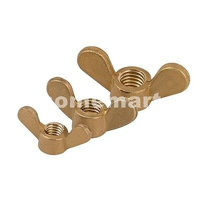 Solid Brass Wing Nut wingnut butterfly thumb copper nuts M3 M4 M5 M6 M8 M10 M12