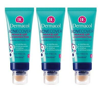DERMACOL ACNECOVER MAKE UP WITH CORRECTOR GRUNDIERUNG 30ml