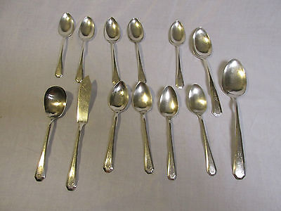 "1920s WmRogers & Sons AA Silver Plate ""La France"" mixed lot free shipping"