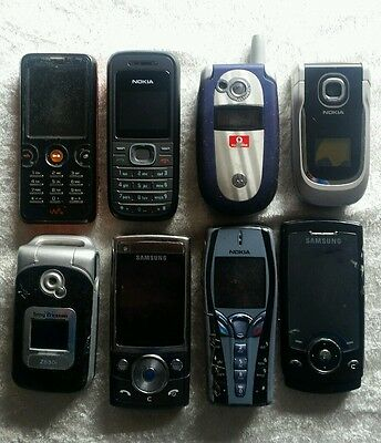 X8 Mobile phones job lot wholesale Samsung Nokia Sony etc spares or repairs