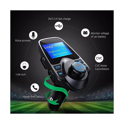 Bluethooth Wireless Car FM Transmitter Audio Receiver Radio Adapter USB Charger