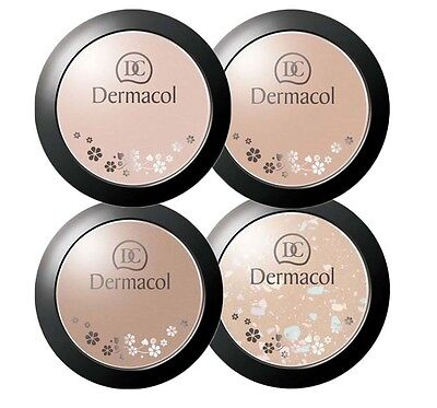 DERMACOL MINERAL COMPACT POWDER 8,5 g 01 02 03 04 FARBAUSWAHL
