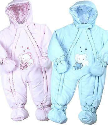 BabyPrem Baby Clothes Winter Padded Snowsuit Snow Suit All-In-One 9 - 23m