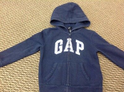 Sweatshirt Hooded - Girls Age 6-7 Years  - Kids Gap - Navy - Sequins On Logo