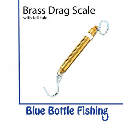 NEW Manley Brass Fishing Drag Scale 50lb from Blue Bottle Fishing