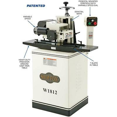 """Shop Fox W1812X—2 HP 7"""" Planer / Moulder with Stand and Elliptical Jig"""