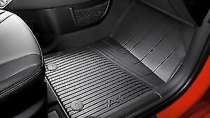 New and genuine Audi A1 Front and Rear Rubber floor mat set RHD