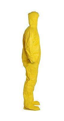 DuPont Tyvek Tychem Protective Chemical Hazmat Coverall Suit Medium Hood + Socks
