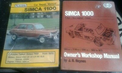 Collection of SIMCA GENUINE WORKSHOP MANUAL haynes autodata sealed