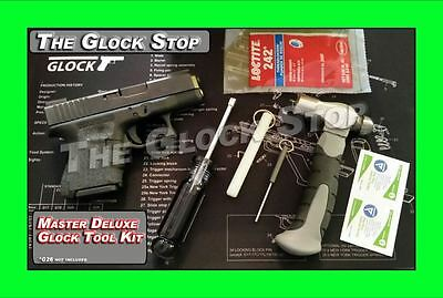 MASTER DELUXE GUNSMITHING TOOL SET for GLOCK DISASSEMBLY TAKEDOWN SIGHT TOOLS ++
